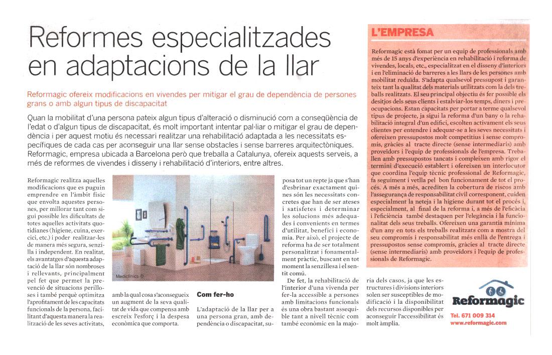 Reformagic dans le journal El Periódico